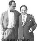 Conrad Veidt y Paul Leni