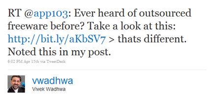 Vivek's retweet