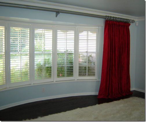 Window coverings on pinterest pinch pleat curtains bay for Blind ideas for bay windows