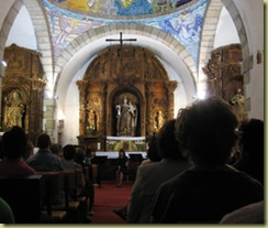 Interior of Ponferrada chapel.