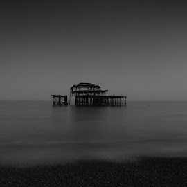 West pier by Marcin Kozak - Transportation Boats ( brighton, long exposure, seascape )