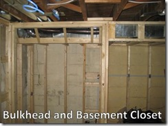 Bulkhead and closet