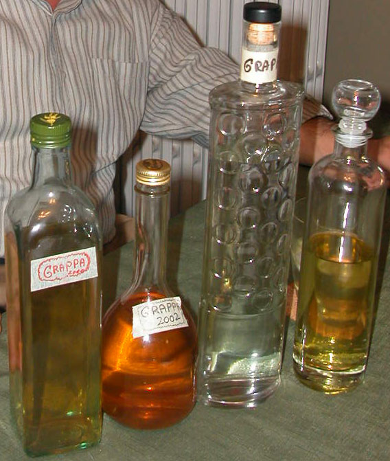Homemade Grappa