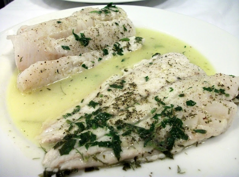 Poached Hake with White Wine, Pancetta and Parsley Recipe