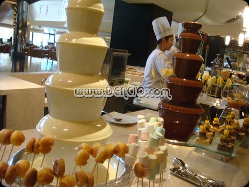 Heaven and Earth Chocolate Fountain... I think they use hershey's chocolates for the fountains...
