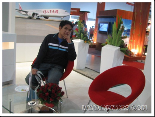 Lounging at Qatar Airport...