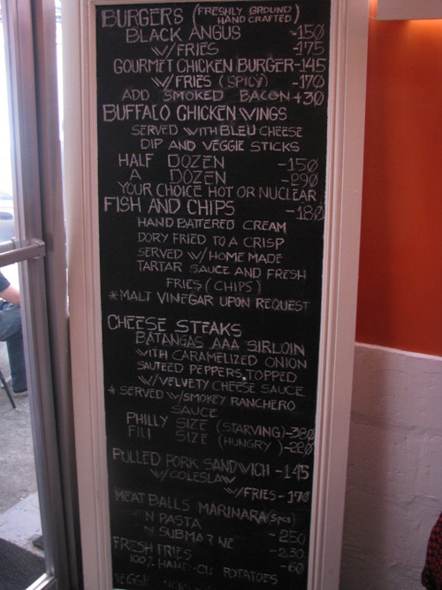 Charlie's Grind and Grill Menu