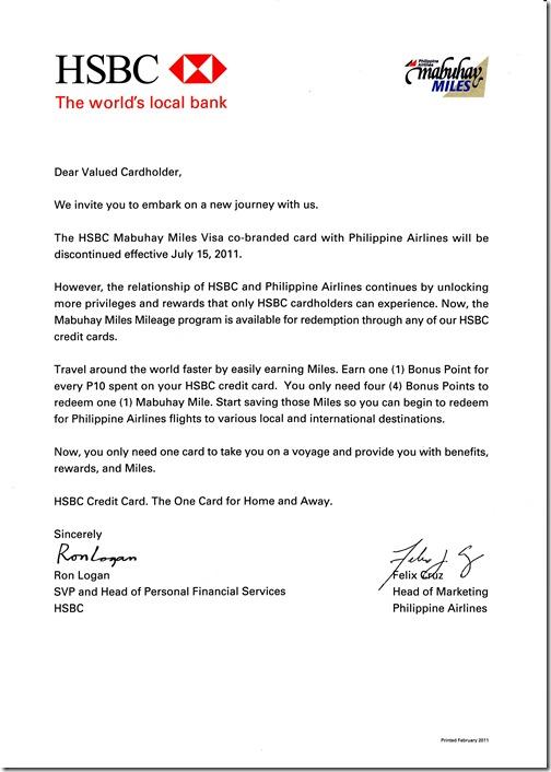 HSBC No More Mabuhay Miles