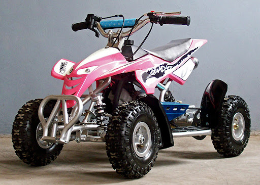 49cc Kids Quad Bike Pink