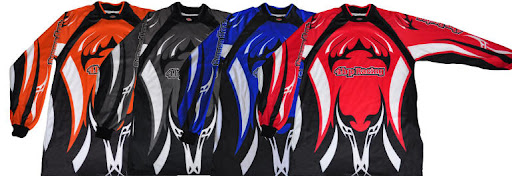 Senior Motocross Jersey Shirts Orange Black Blue Red