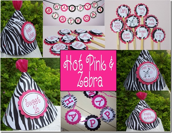 Party Pops: Zebra and Hot Pink Party!!
