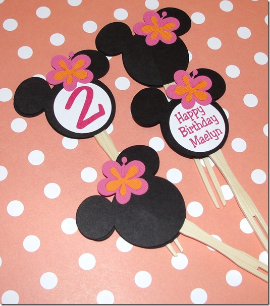Party Pops Minnie Mouse Luau