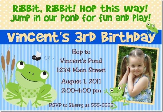 Little Frog invite