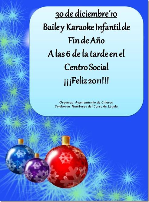 CARTEL fiesta Infantil  Navidad 2011