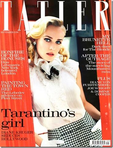 Diane Kruger Tatler Cover @ Bette's Vintage Line