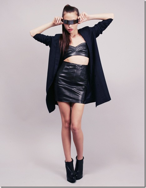 Leather skirt @Bette's Vintage Line