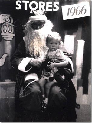 Janice with Santa 1966