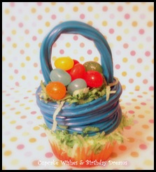 Blue Close Up Easter Basket Cupcakes