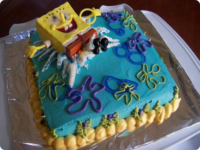Sponge Bob Splash Cake 4