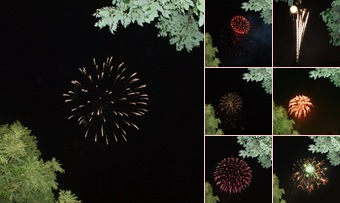View fireworks for Labor Day
