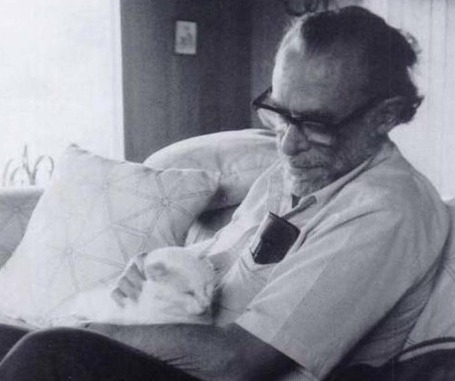 Charles Bukowski with