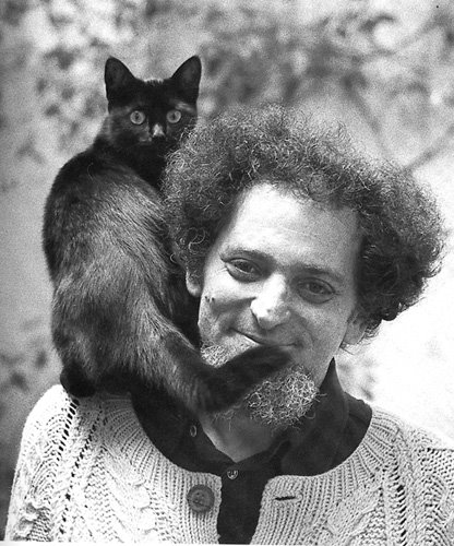 "Georges ""Crazy Beard"" Perec and his wide eyed kitty.jpg"