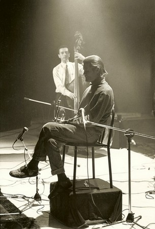 Chet Baker (tp), R. Del Fra (b) Paris 1987 - Photos © J.Madani.jpg