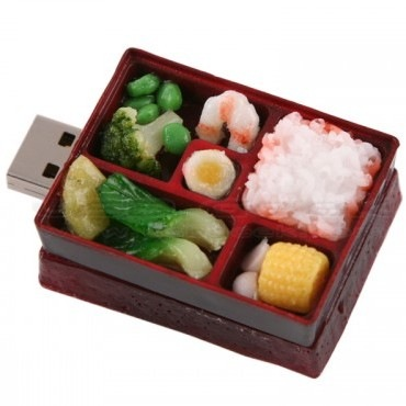 d i s k o n k e y bento lunch box usb drive. Black Bedroom Furniture Sets. Home Design Ideas