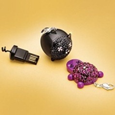 Swarovsky USB piggy black