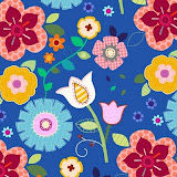jill mcdonald Floral_on_intense_Blue.jpg