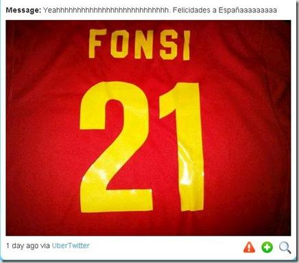 Luis Fonsi camisa 21