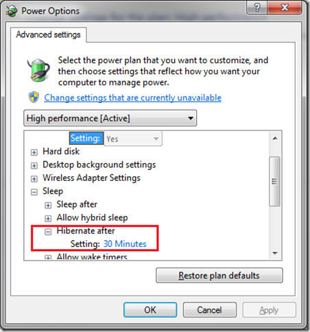 How to Hibernate Automatically in Windows 7