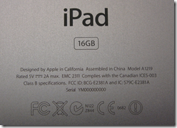 How to find Apple iPad Specification Details