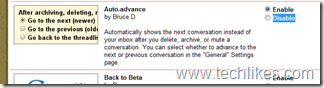 Auto Advance to Next Message in Gmail
