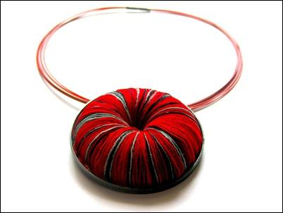10.Red round paper pendant