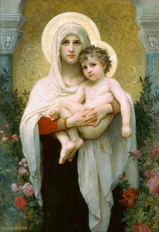 412px-William-Adolphe_Bouguereau_(1825-1905)_-_The_Madonna_of_the_Roses_(1903)