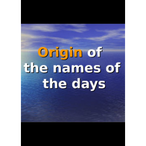 Origin Of The Names Of The Days Cover