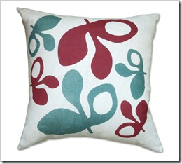 hand printed pod pillow