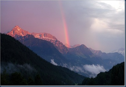 berge regenbogen