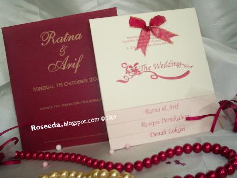 roseeda undangan nikah invitation ss01001 roseeda invitation