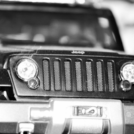 Toy Jeep by Alan Dougherty - Artistic Objects Toys ( black and white, jeep, zoom, toys, nikon, photography,  )