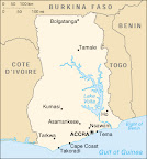 Map of Ghana: see Tamale on the North