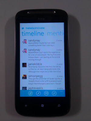 Twitter on Windows Phone 7