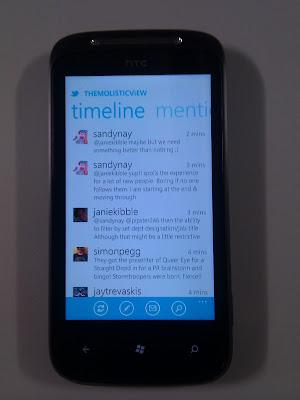 Twitter on Windows Phone 7
