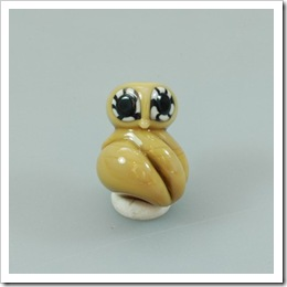Lampwork Bead - Wise Owl - by NValentineStudio on Etsy
