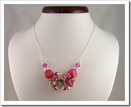 Raspberry Pink Crystal Necklace by Erika Price on Etsy