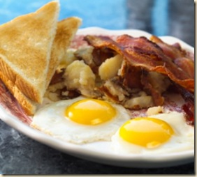 bacon, eggs home fries