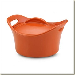 Bubble and Brown 18 oz_ Round Mini Casserole in Orange