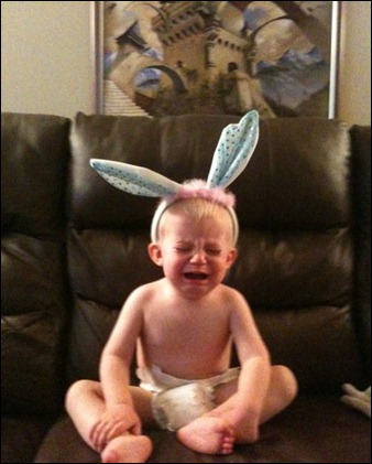 wyatt and the bunny ears.