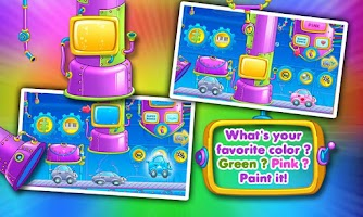 Screenshot of Rainbow Cars! Kids Colors Game